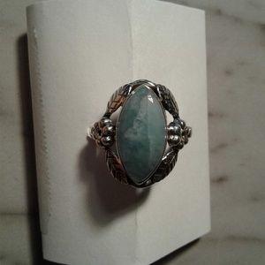 gemstone  925 sterling silver ring 8.5